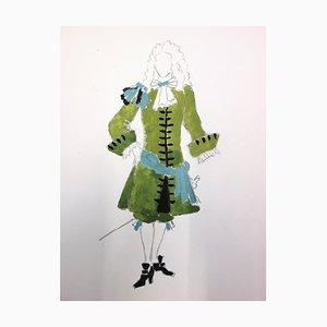 Disegno Male Costume Of The Court Of Louis XIII di Suzanne Lalique