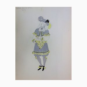 Musketeer Style Costume Drawing by Suzanne Lalique