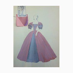 Suzanne LALIQUE (1892 -1989) - Costume de bal Dessin original signé