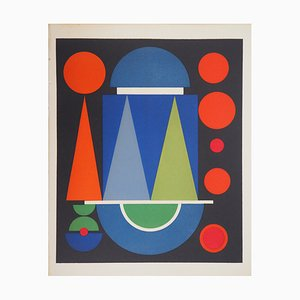 Auguste HERBIN - Red Composition, 1949, limited edition screenprint
