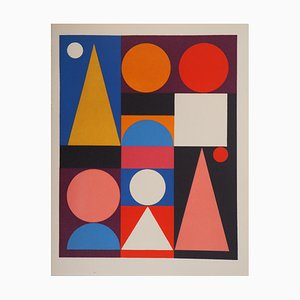Auguste HERBIN - Bird Composition, 1949, limited edition screenprint