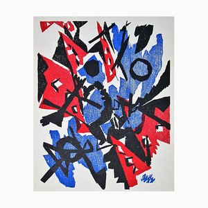 Woodcut Composition by Ernst Wilhelm Nay, 1953