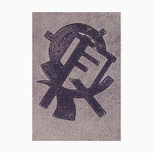 Composition for Abstract Art Radierung von Henri Kerels, 1953
