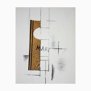La Bouteille de Marc Stencil Reprint by Georges Braque, 1956