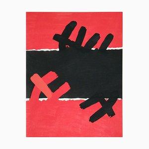 Surface Rouge et Noire Réimpression par Giuseppe Capogrossi, 1957