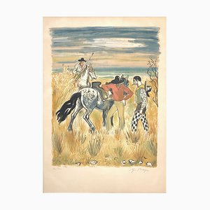 Horses in the Countryside Lithograph by Yves Brayer