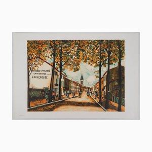 La Vacheresse, Route National à Anse Lithographie Reprint von Maurice Utrillo