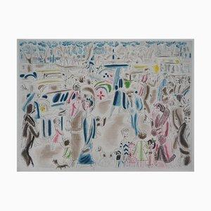 Gravure Rue Animée par Chas Laborde