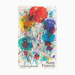 Color Explosion Lithograph Poster by Sam Francis