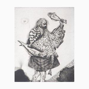 Acquaforte The Fisherman di Miguel Conde