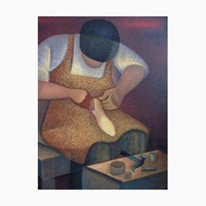Litografia Noble Profession: The Shoemaker di Louis Toffoli