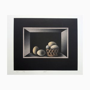 Still-life with Eggs Etching by Mario Avati