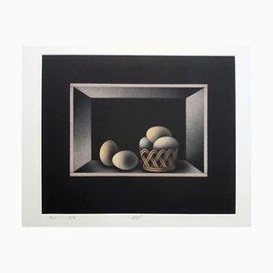 Stillleben mit Eiern Radierung von Mario Avati