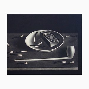 Still-life with Matches Etching by Mario Avati