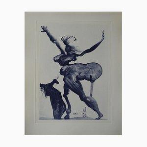Les Traîtres Envers Leurs Hôtes Engraving by Salvador Dali