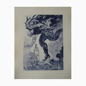 The Giants Etching by Salvador Dali