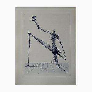 Salvador Dali - Bertrand de Born, original signed engraving