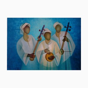 The Nile Trio Lithograph by Louis Toffoli