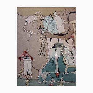 Surrealist Salon Radierung von Jorge Camacho