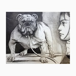 The Bulldog Etching by Pierre-Yves Tremois