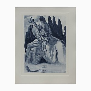 Hell 27 Etching by Salvador Dali for The Divine Comedy