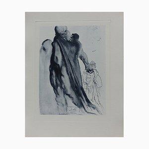 Incisione Purgatory 5 di Salvador Dali for The Divine Comedy