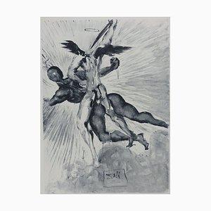 Incisione Purgatory 8 di Salvador Dali for The Divine Comedy