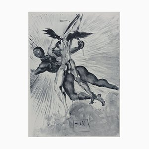Purgatory 8 Etching by Salvador Dali for The Divine Comedy