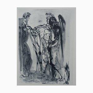 Aguafuerte Purgatory 11 de Salvador Dali para The Divine Comedy