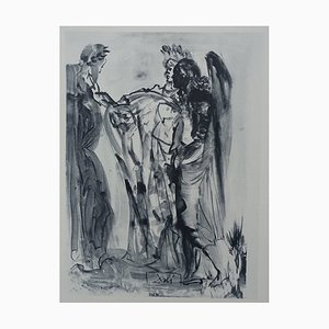 Purgatory 11 Etching by Salvador Dali for The Divine Comedy