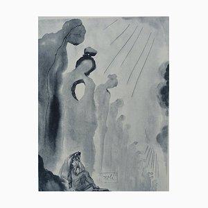 Aguafuerte Purgatory 13 de Salvador Dali para The Divine Comedy