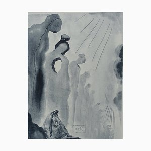 Purgatory 13 Etching by Salvador Dali for The Divine Comedy