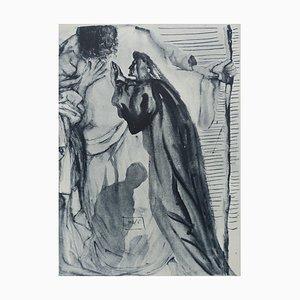 Salvador DALI : PURGATORY 14 - Original signed etching from the divine comedy