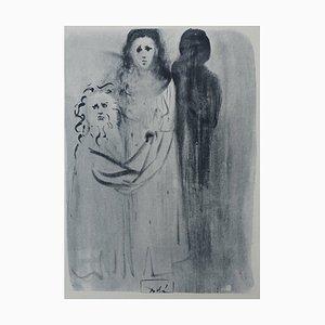 Incisione Purgatory 16 di Salvador Dali for The Divine Comedy