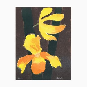 Bernard CATHELIN - Orchids - Original lithograph handsigned and numbered