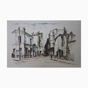 Léonard FOUJITA - At the time of Paris, rue de la Santé and passage Prévost, lithograph, signed in the plate