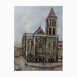 The Basilica of Saint Denis Lithograph by Maurice Utrillo