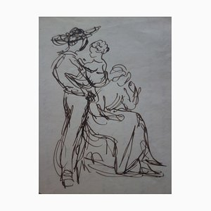 Cupidon et Amour Drawing by Demetrios Galanis