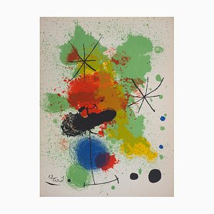 Lithographie Composition Étoiles par Joan Miró