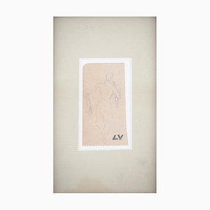 Women's Silhouette Zeichnung von Louis Valtat
