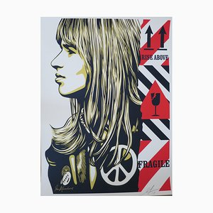 Shepard Fairey (Obey), Fragile Peace, Signed and numbered silkscreen