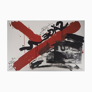 Wolf VOSTELL (1932-1998) - The Scream: The accident, 1990, original signed lithograph