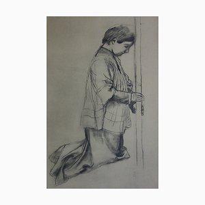 Litografia Pèlerin Priant di Maurice Denis