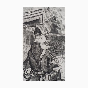 The Guard of the Moulin Rouge Gall Etching by Jacques Villon
