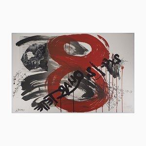Litografia The Scream: Quartet di Wolf Vostell, 1990