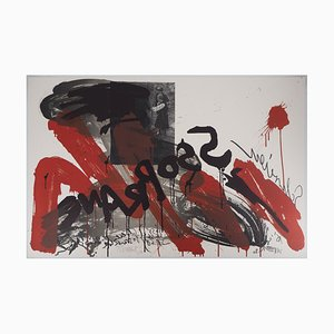 Litografia The Cry: Soprane di Wolf Vostell, 1990