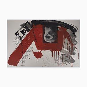 Le cri: Sol Lithografie von Wolf Vostell, 1990er