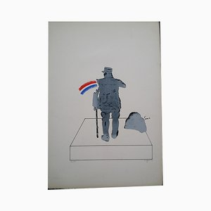 """Antonio Segui """"The Patriot of Gaulle"""" Original lithograph signed and justified in pencil"""