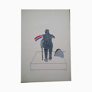 Litografia The Patriot of Gaulle di Antonio Segui