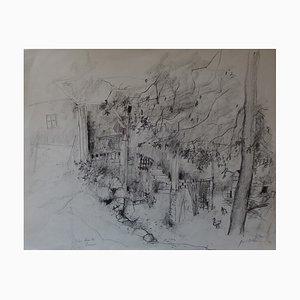 Les Combes, Savoie Drawing by Bernard Gantner